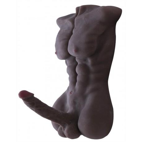 Silicone Sex Doll Silicone Entity Lifelike 7.1 inch Big Penis Men Torso Love Doll for Men Women Masturbation